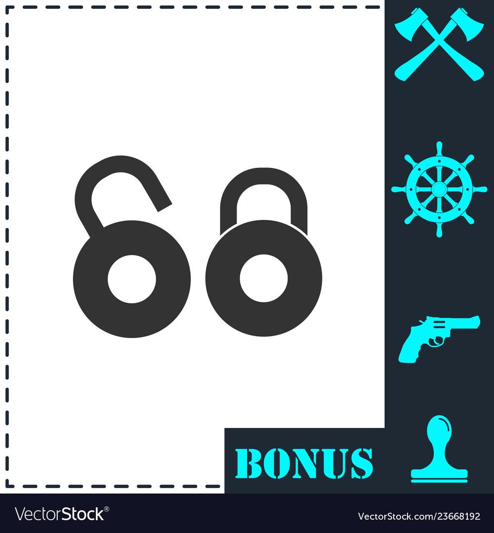 Locks icon flat