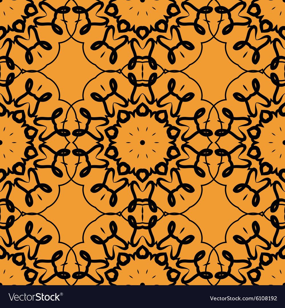 Seamless Print of stylized rounf mandala frame vector image