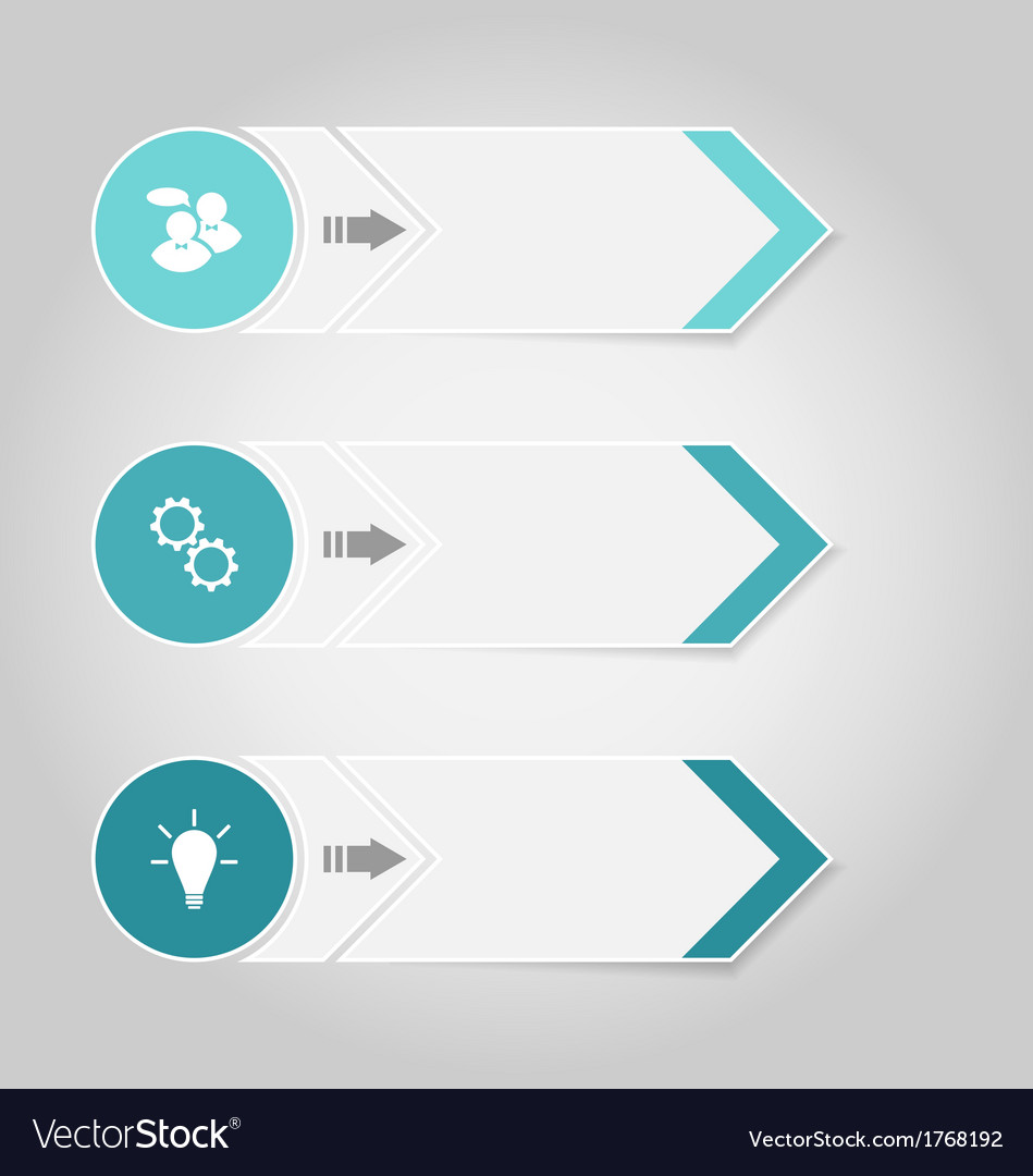 Set modern design banners with infographics vector image