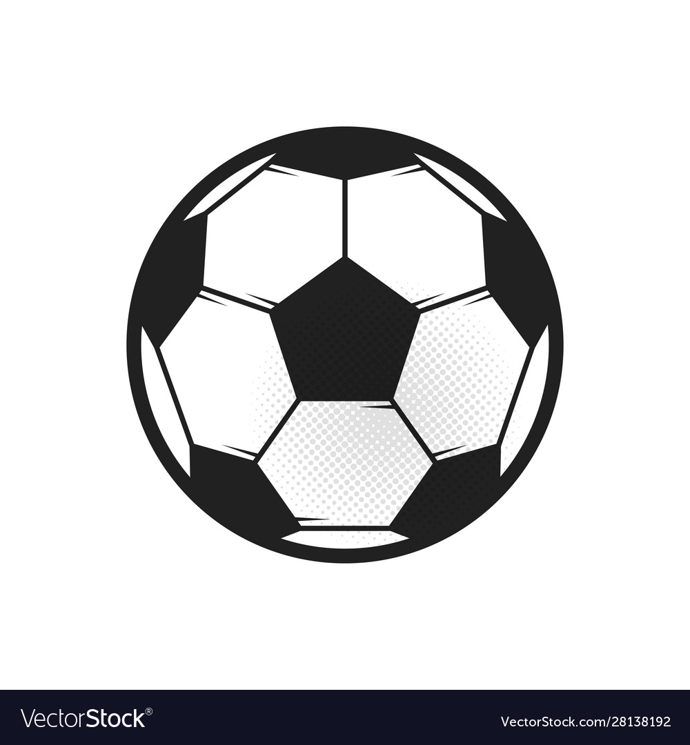Soccer ball icon flat in black on white background