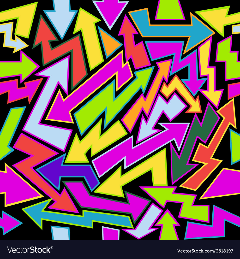 Colorfull Arrows Seamless Background