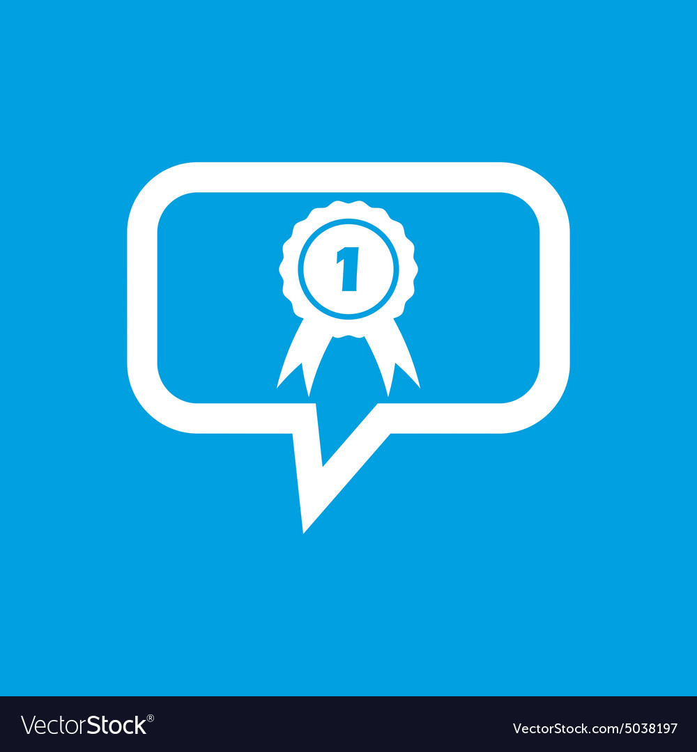 First place award message icon vector image