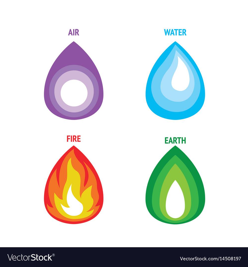 Four Elements Nature Vector Image