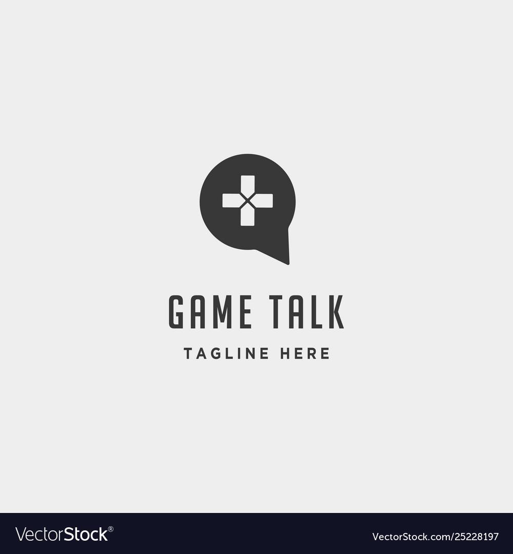 Game talk logo design template icon element