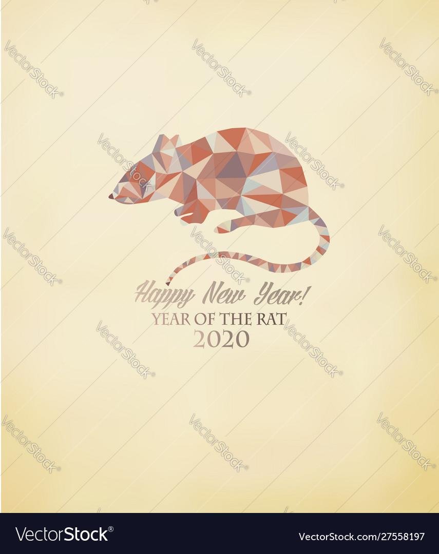 Happy new year 2020 background year rat