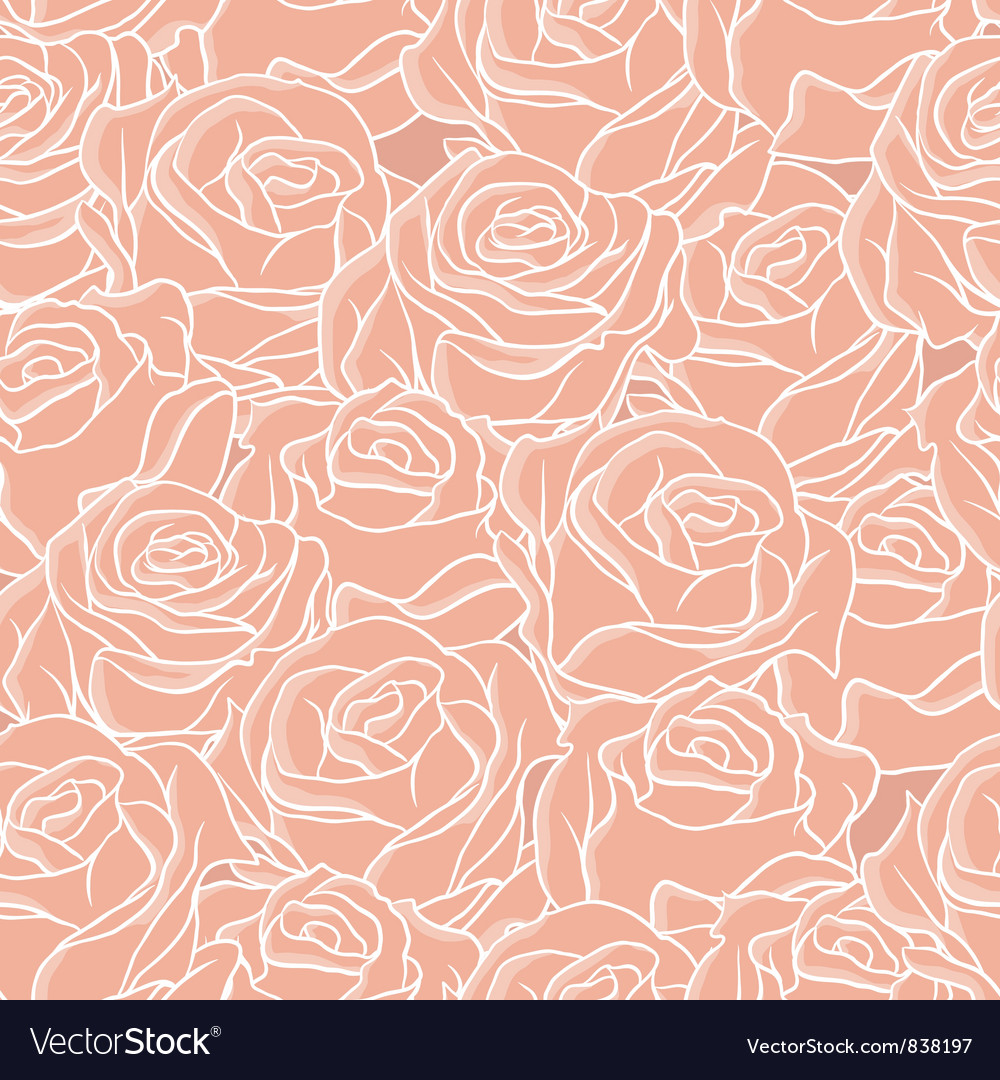 Seamless abstract background with roses pattern