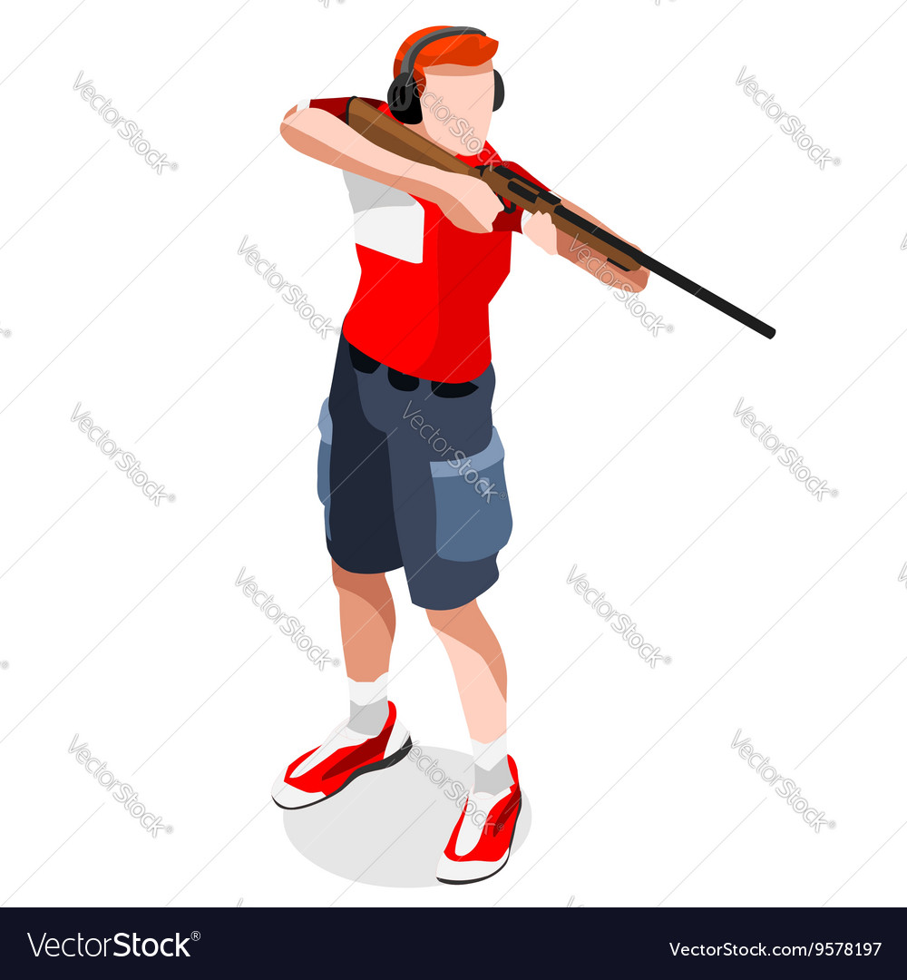 Shooting 2016 Sports Isometric 3D vector image