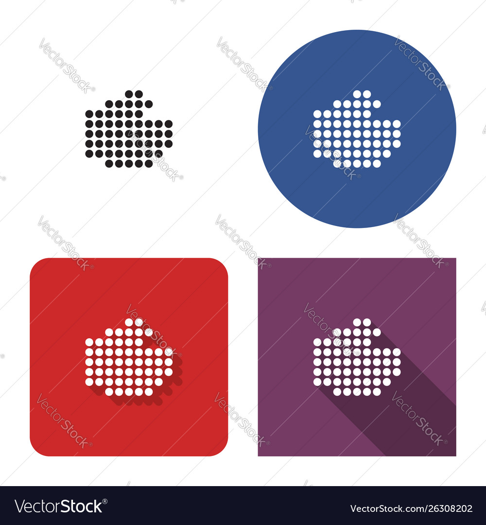 Dotted icon fist in four variants with short