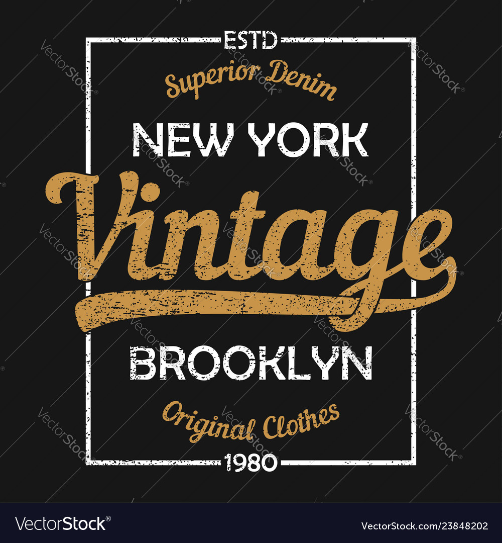 New york vintage graphic for t-shirt