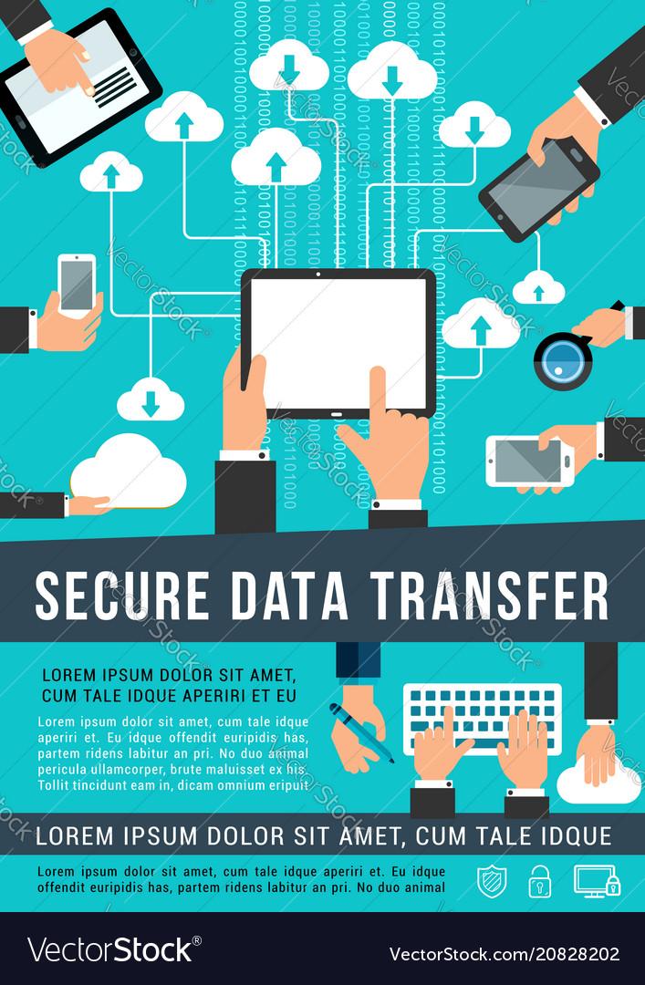 Secure data transfer data technology poster