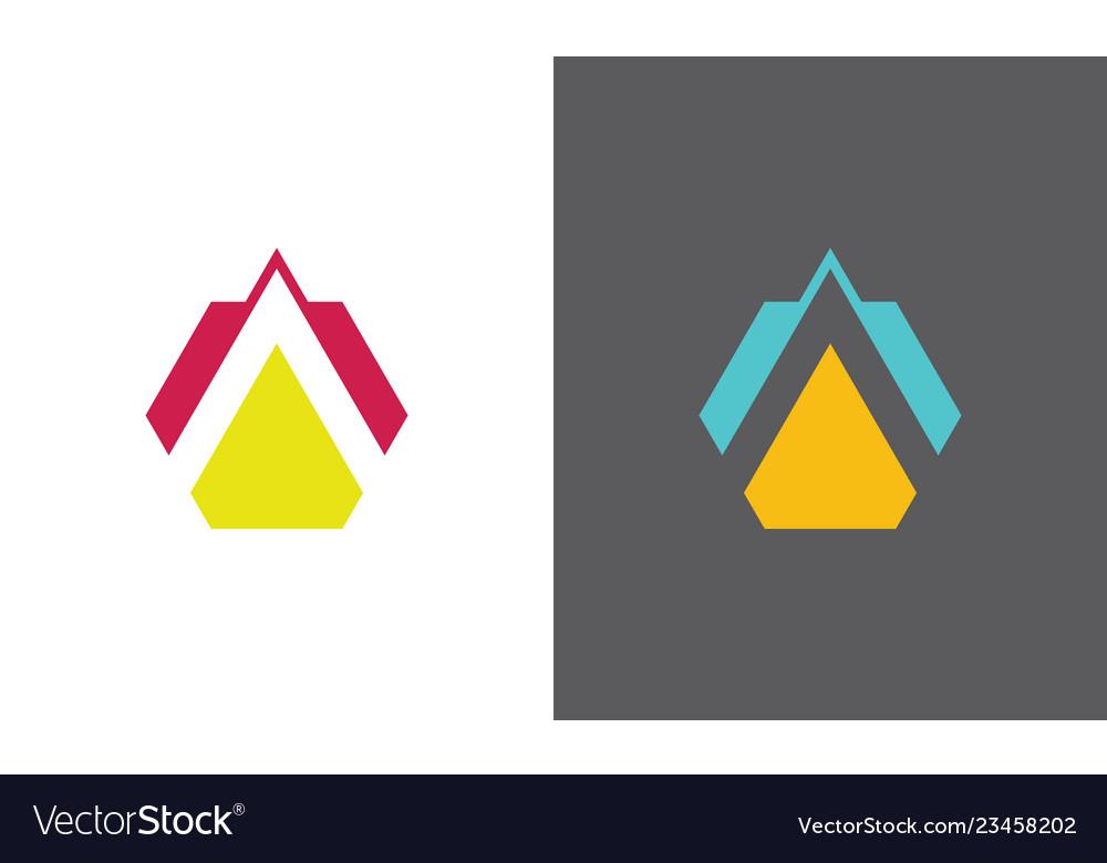 Triangle letter a company logo