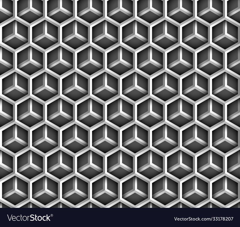 Abstract geometric metal hexagon