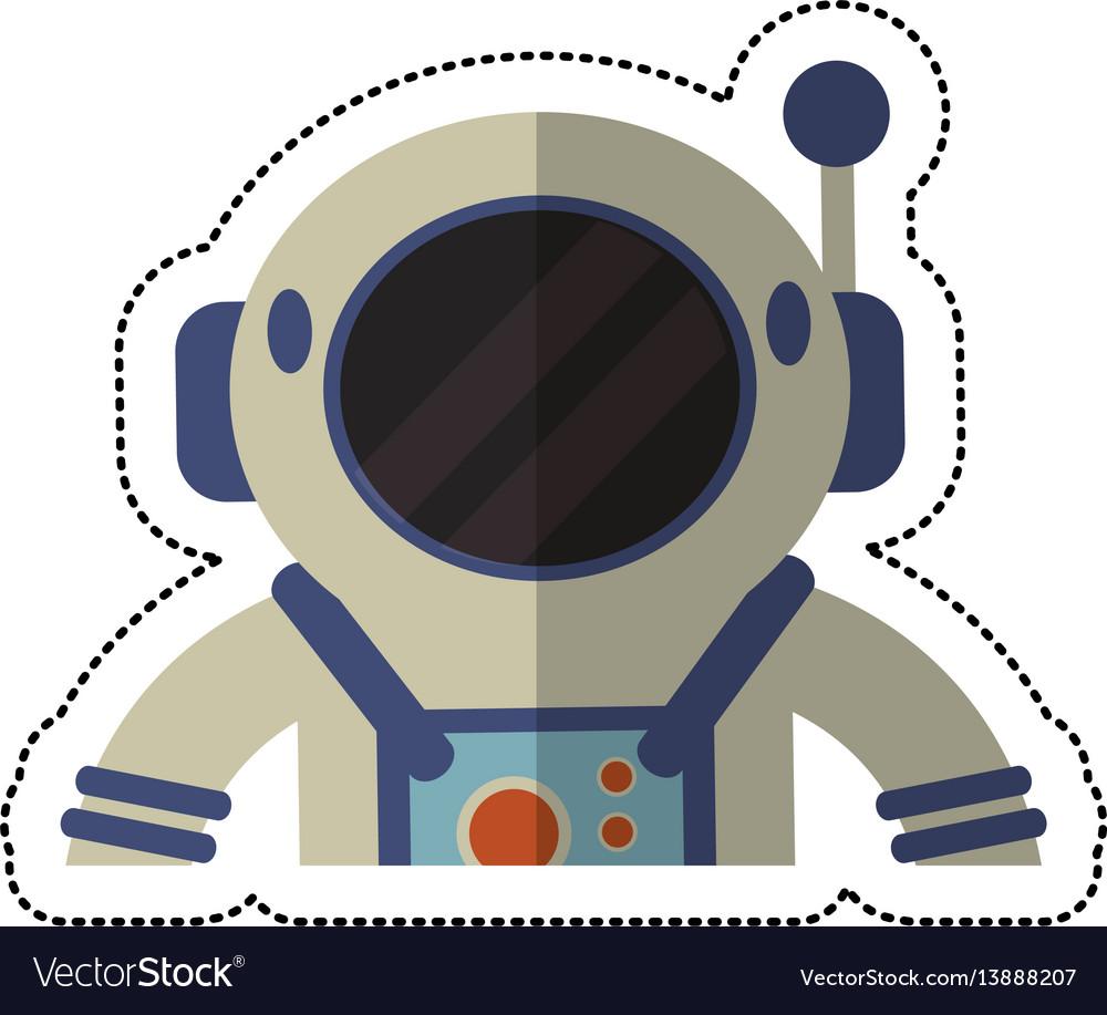 Astronaut spacesuit helmet shadow