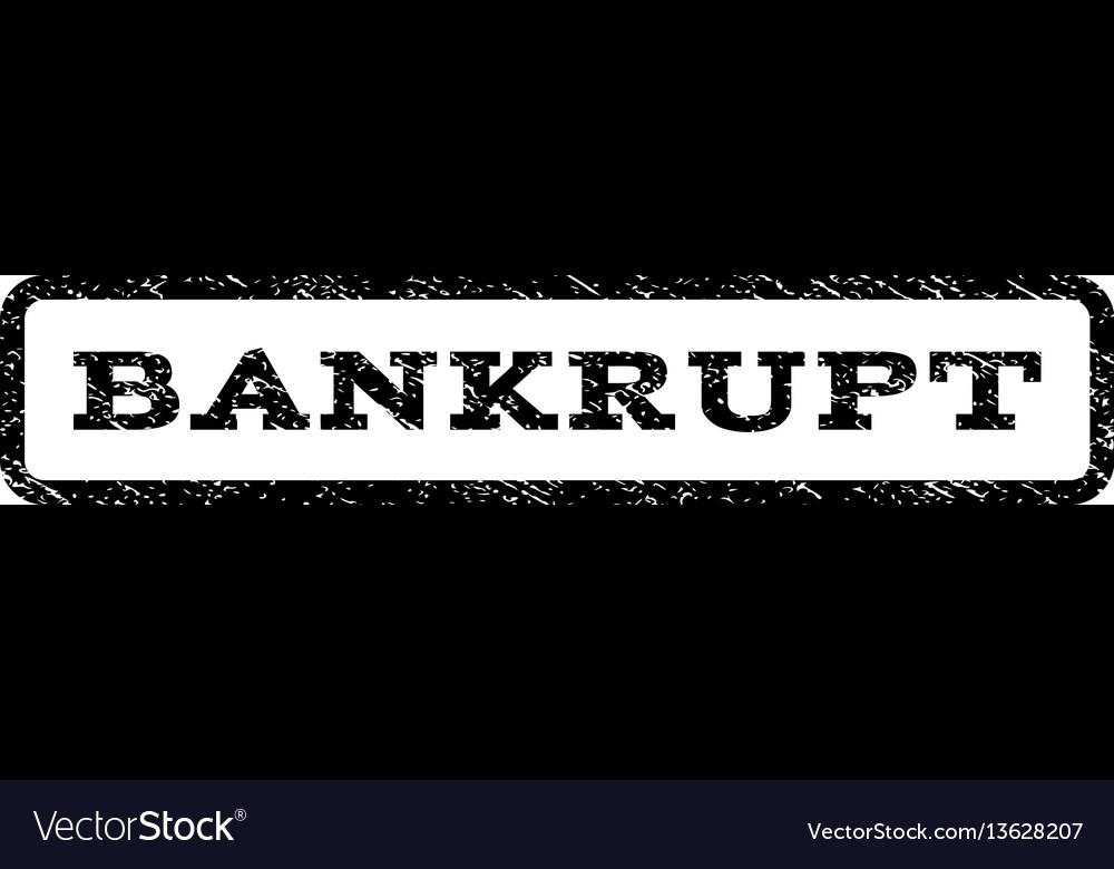 Bankrupt watermark stamp vector image
