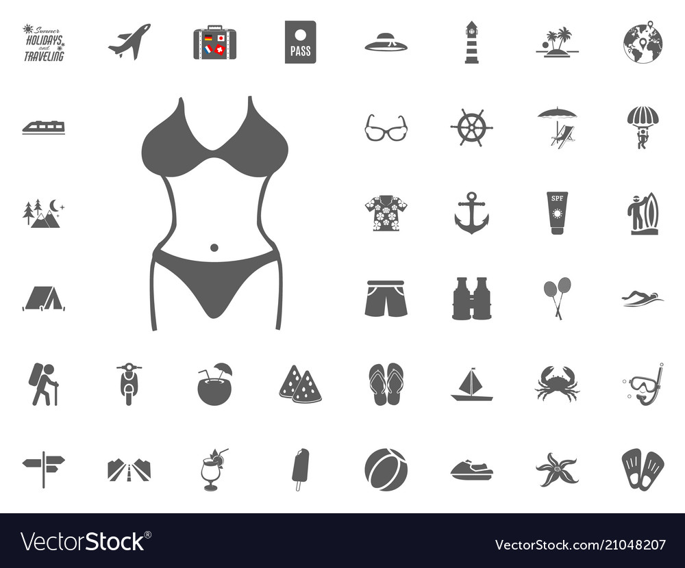33298966cb Bikini swimming suit icon summer holidays and Vector Image