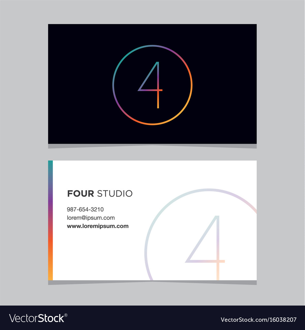 Business-card-number-4 vector image