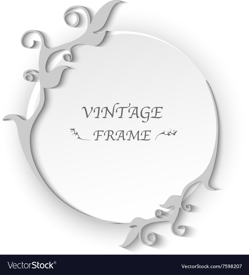 Circle vintage frame template elements vector image