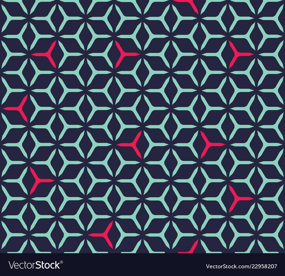 Geometric cubic grid seamless pattern