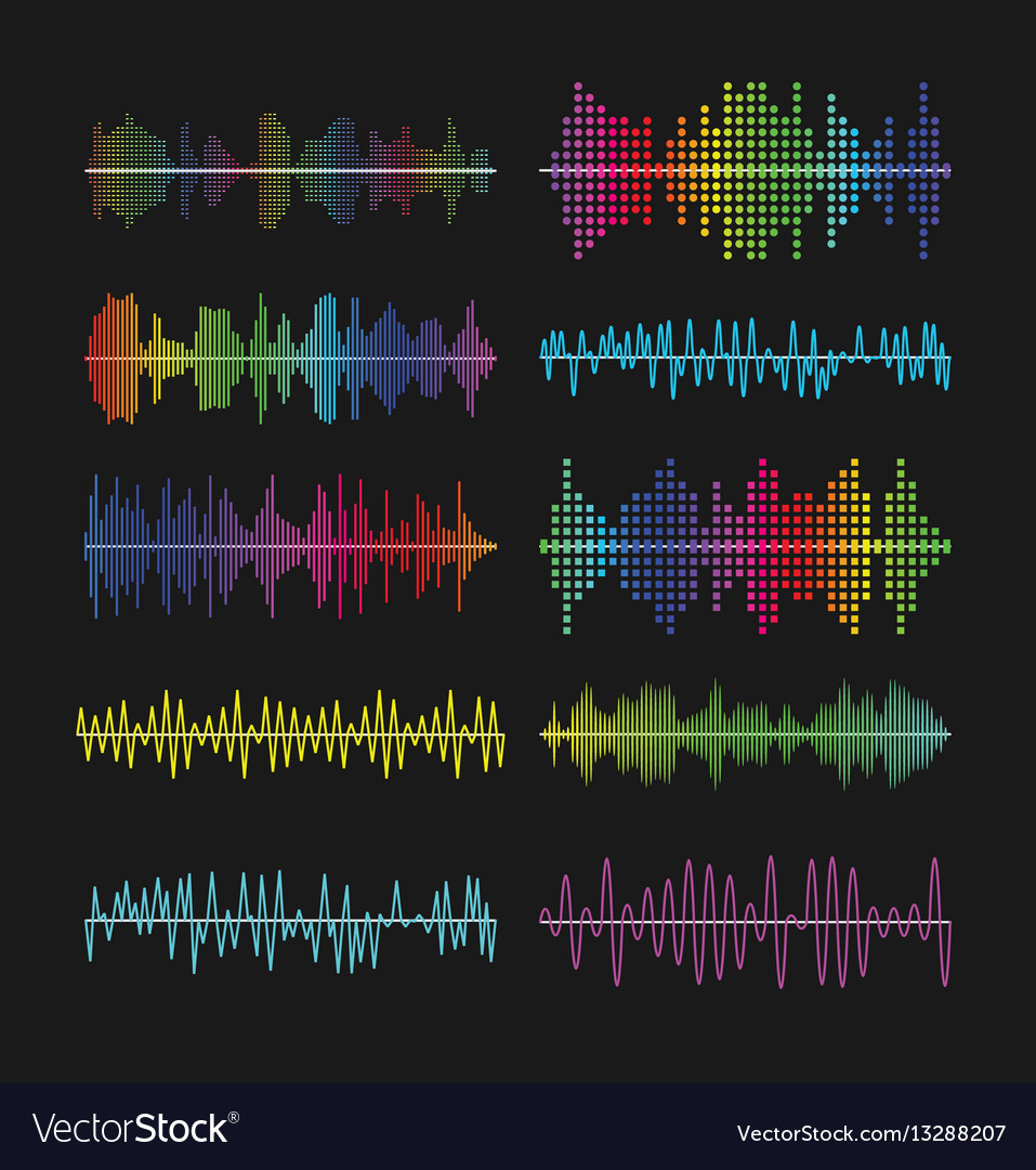 Multicolored graphic equalizer waves soundtrack