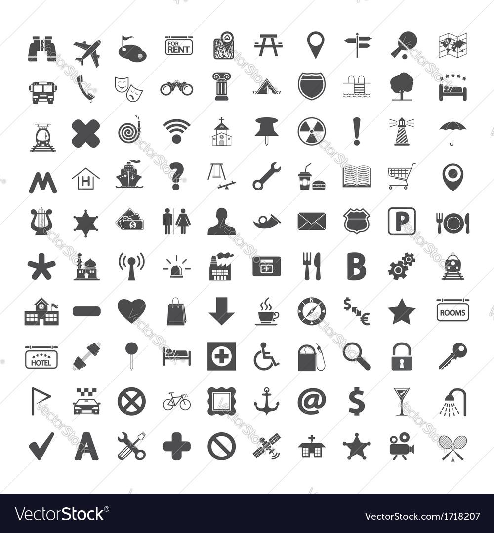 Navigation map icons