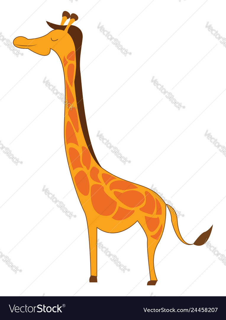 Yellow Giraffe Color Royalty Free Vector Image