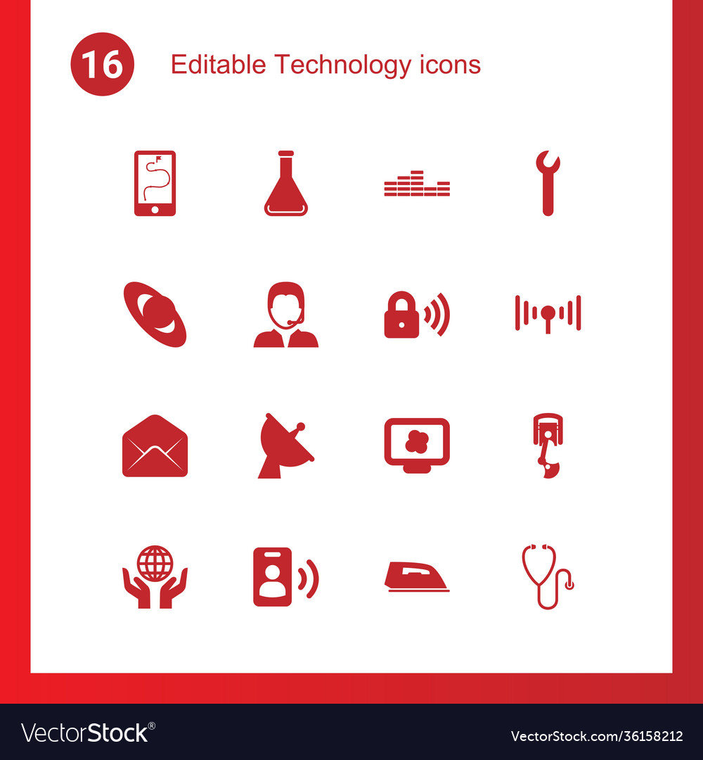 16 technology icons