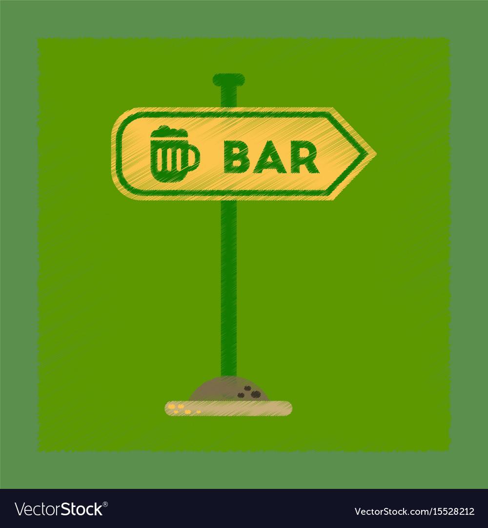 Flat shading style icon sign of bar