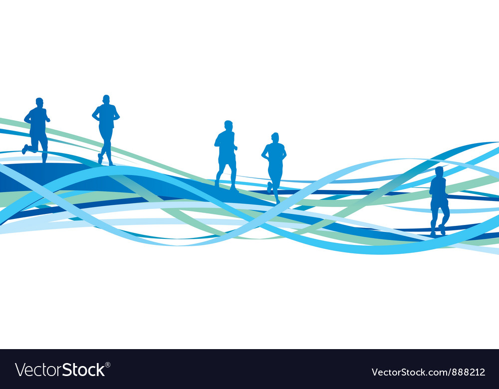 Runners spiral vector image