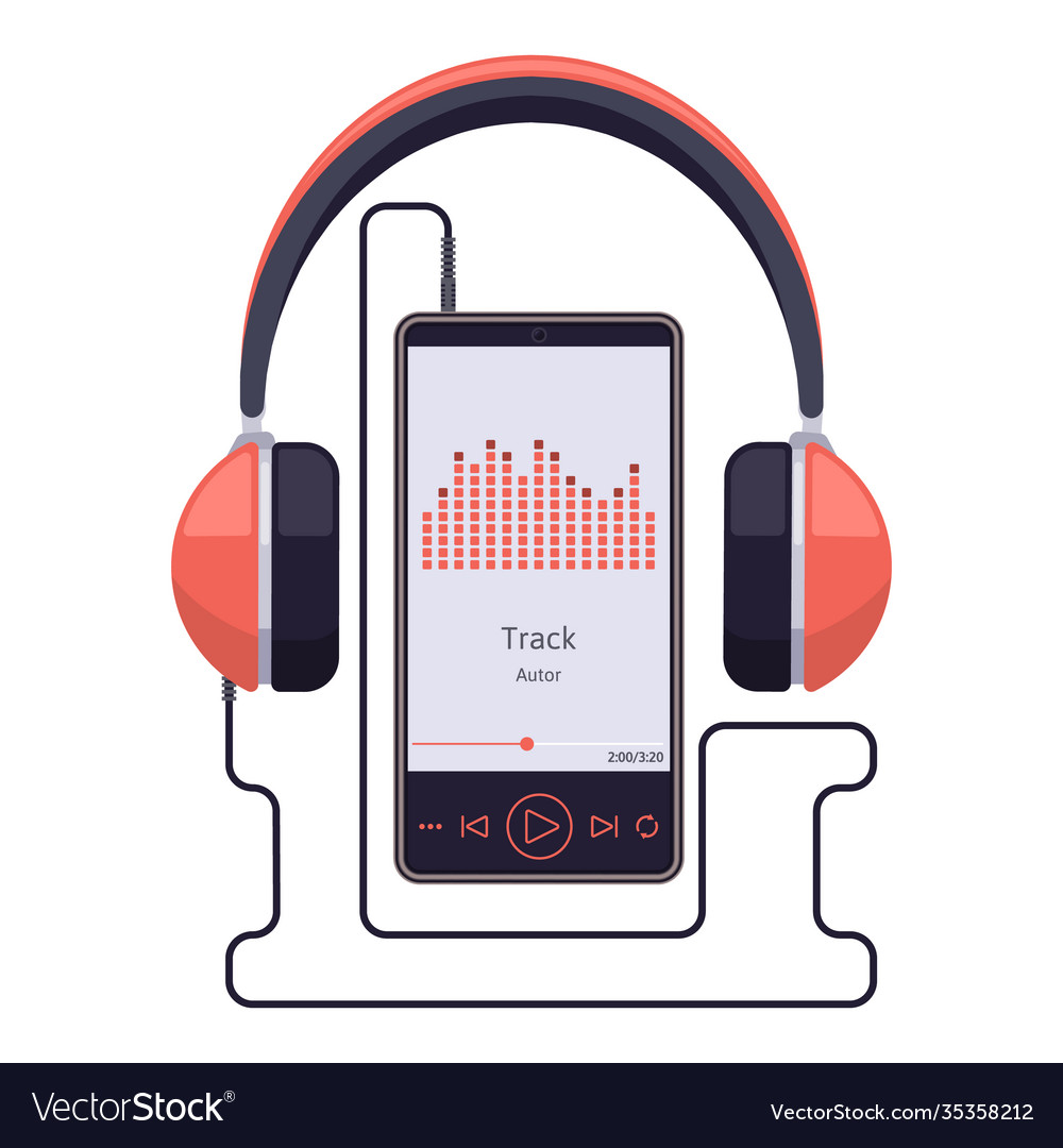 Smartphone with headset earphones and