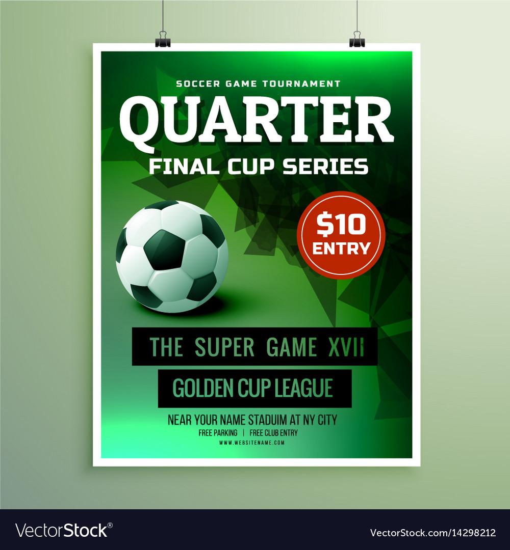 Sports flyer design invitation card template Vector Image