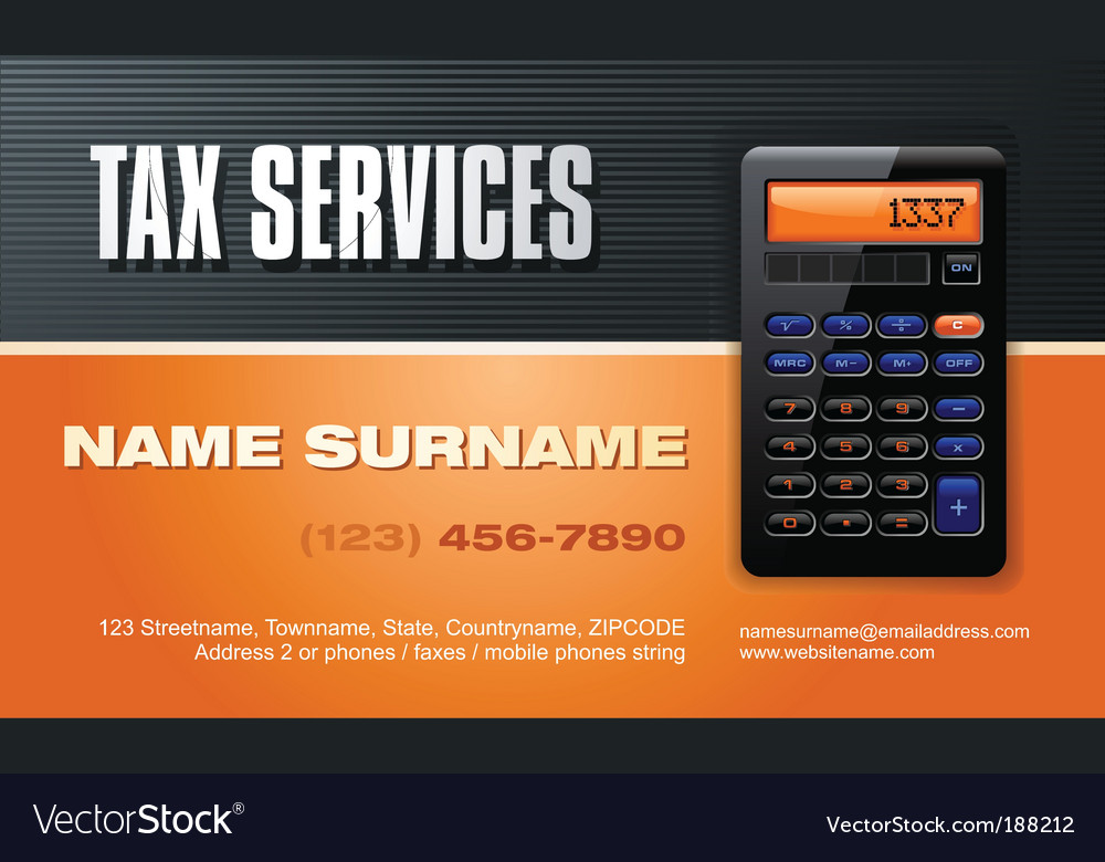 Tax services vector image