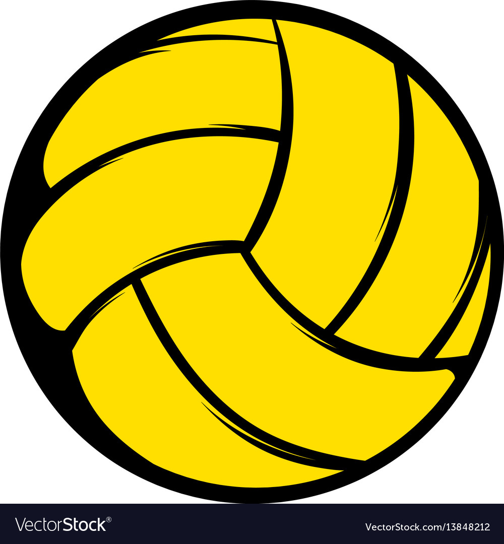 Yellow volleyball ball icon icon cartoon