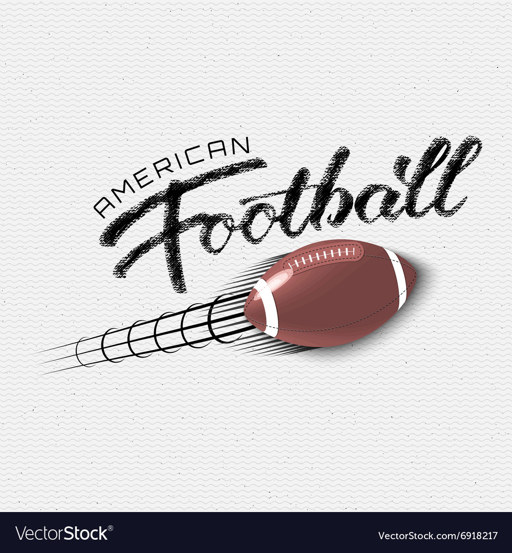 American football insignia and labels for any use