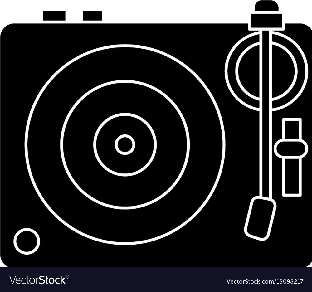 Dj vinyl - turntable icon