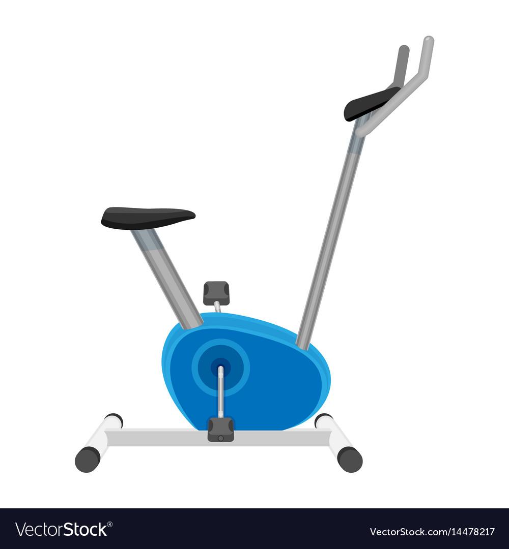 Exercise bike or orbitrek isolated on white