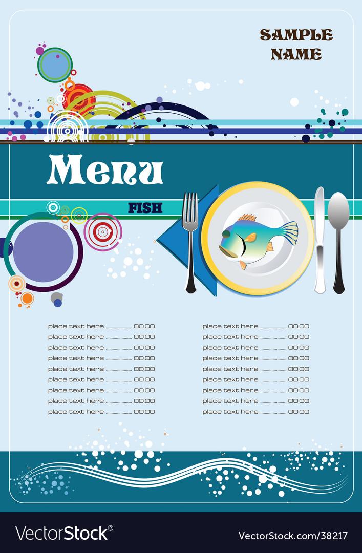 Fish restaurant menu