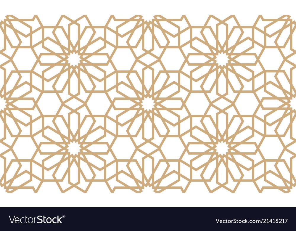Geometrical seamless pattern in arabian style