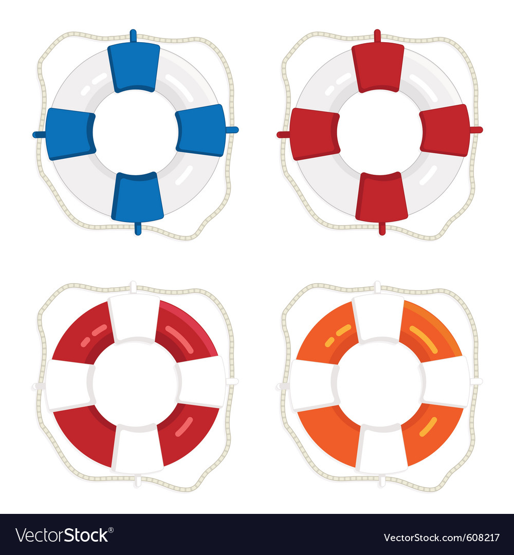 Life saver rings vector image