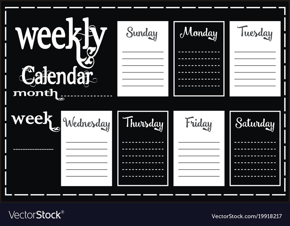 Weekly calendar report