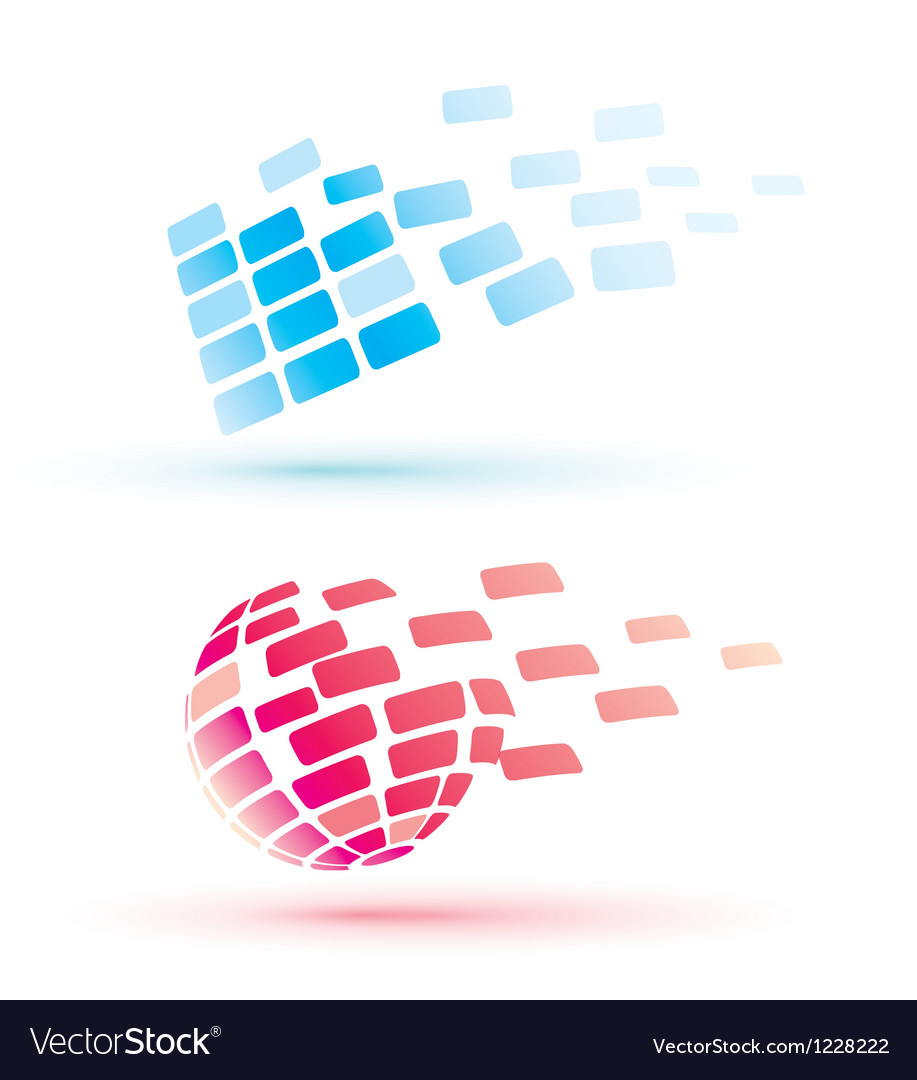 Abstract globe icons business and comunication con