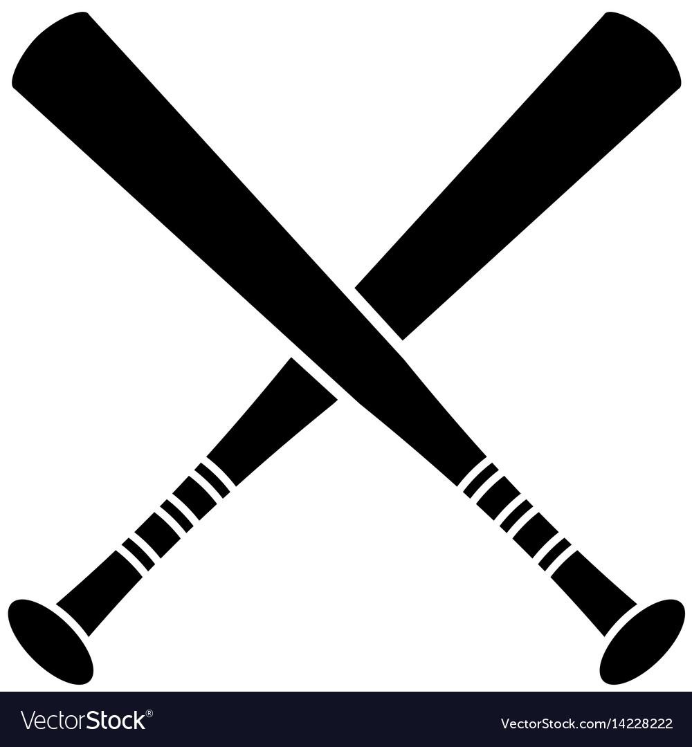 Crossed bat baseball sport pictogram