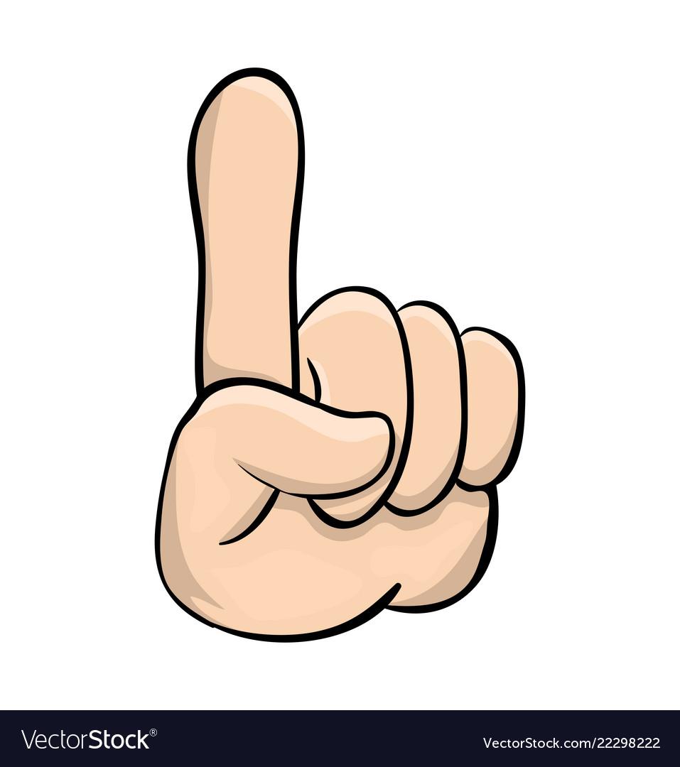 Hand pointer finger up cartoon symbol icon design Vector Image