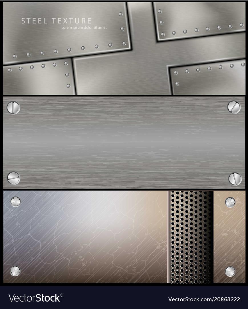 Metall steel banner for facebook design