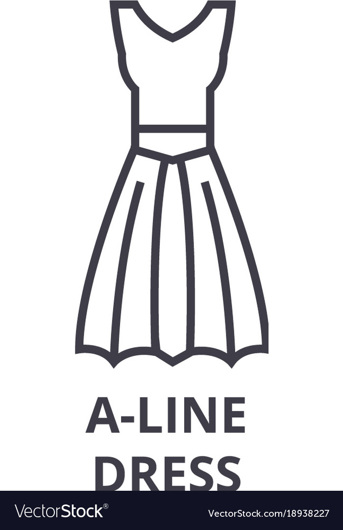 A line dress line icon outline sign linear