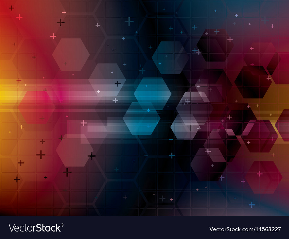Abstract background with technology shapes