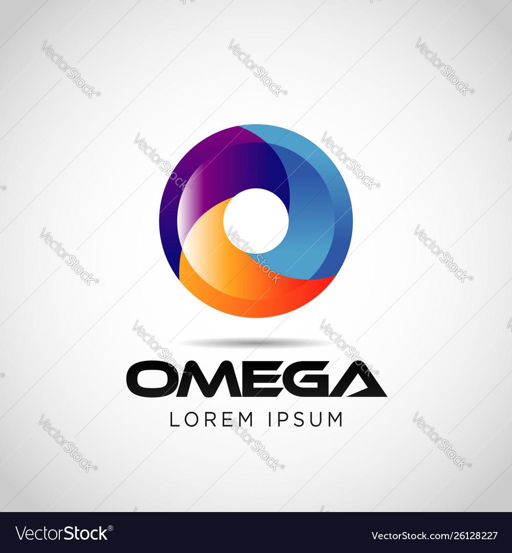 Colorful circle wheel logo sign symbol icon