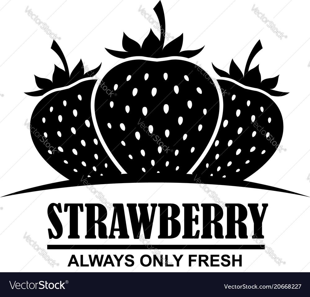 Emblem of strawberries