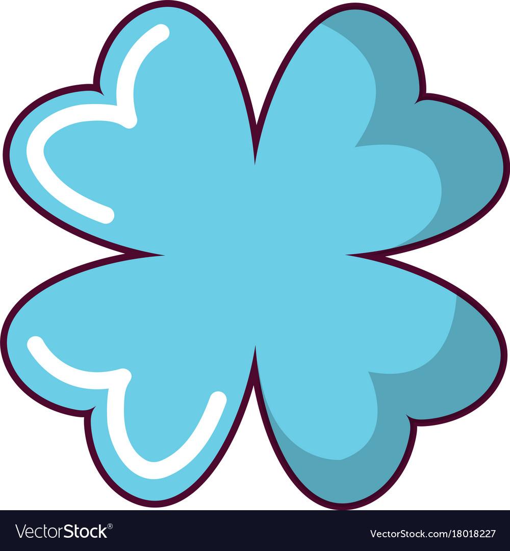 Quatrefoil leaf icon cartoon style
