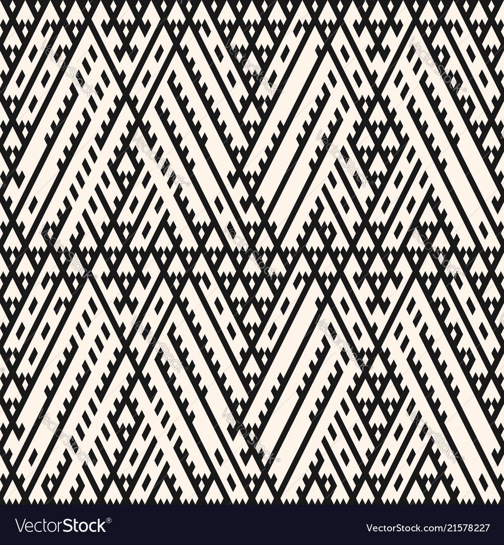 Tribal seamless pattern with diagonal lines
