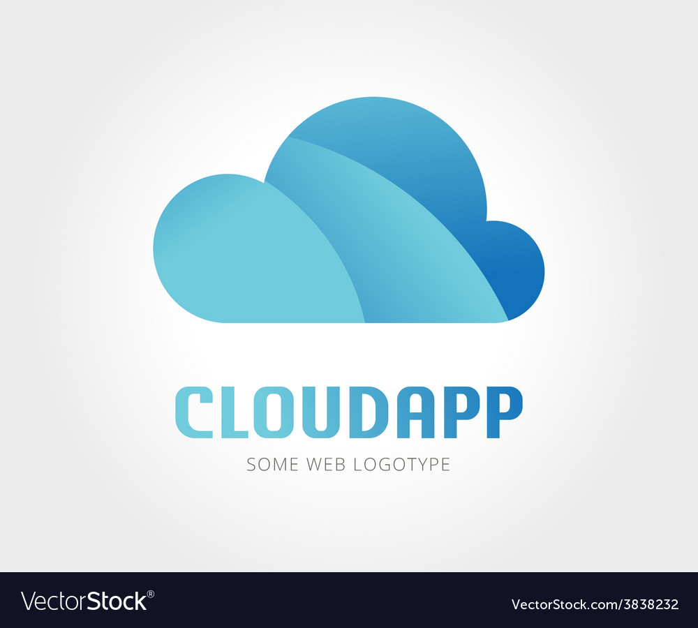 Abstract cloud logo template for branding vector image